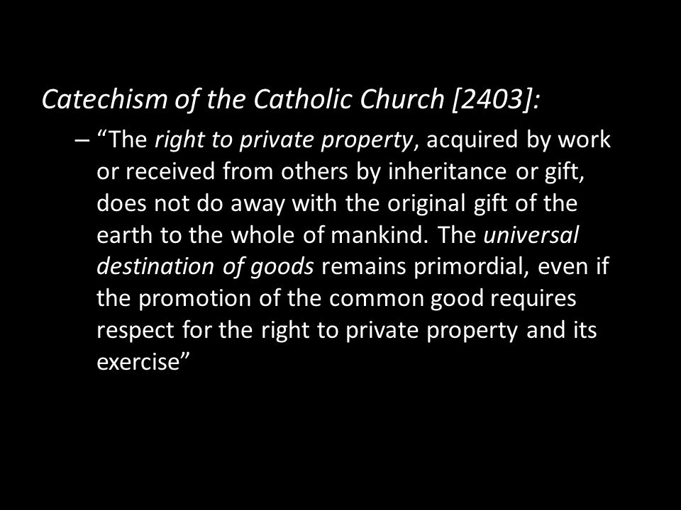 Catechism of the Catholic Church [2403]: